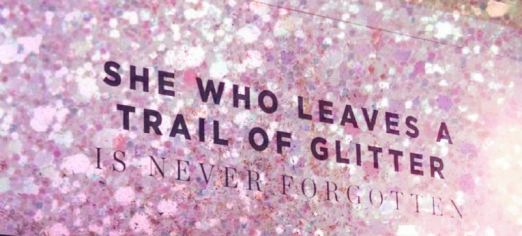 she who leaves glitter
